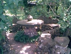 Click to enlarge image  - The Picnic Area - Mrs. Quigley's picnic area is in a nice shady spot.